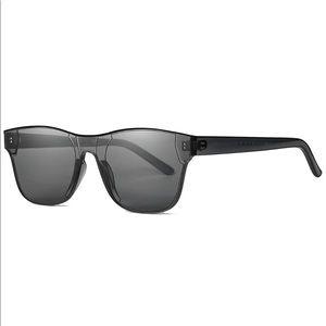 Rimless Wayfarer Sunglasses Retro Gray Classic NEW